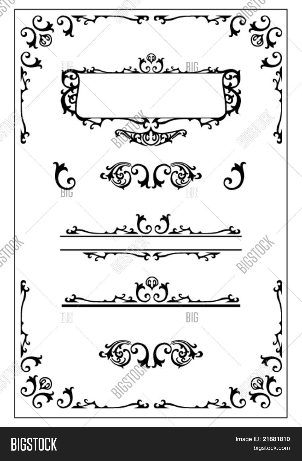 Victorian Design Elements victorian decorative design elements stock vector & stock photos