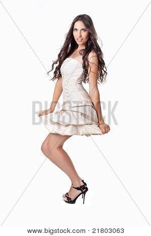 Sexy Woman In Little Dress