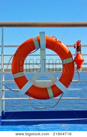 Life Buoy On A Cruise