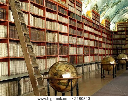 Library With Globes