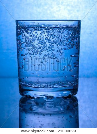 Bubbles In A Glass Of Water