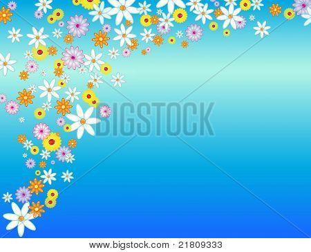 Glossy Flower Background