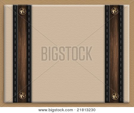 Masculine invitation border brown