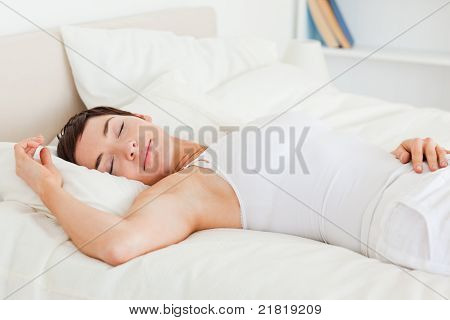 Beautiful Woman Having A Nap