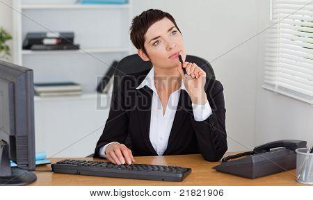 Pensive Secretary