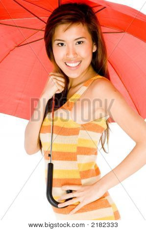 Beauty With Umbrella