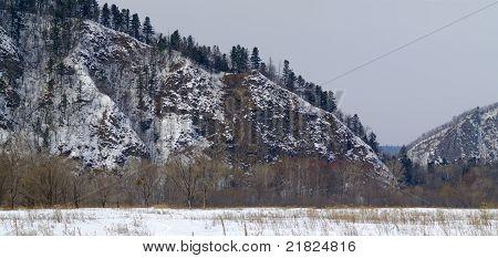 Mountain Ridge Of Sihote-alin In The Winter