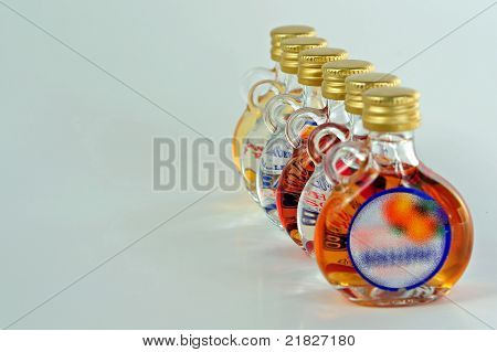 Small liquor bootles