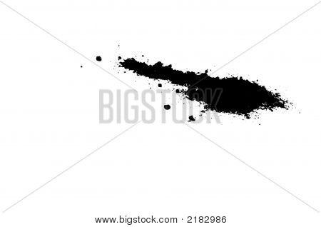 Black Inkblot Or Spill