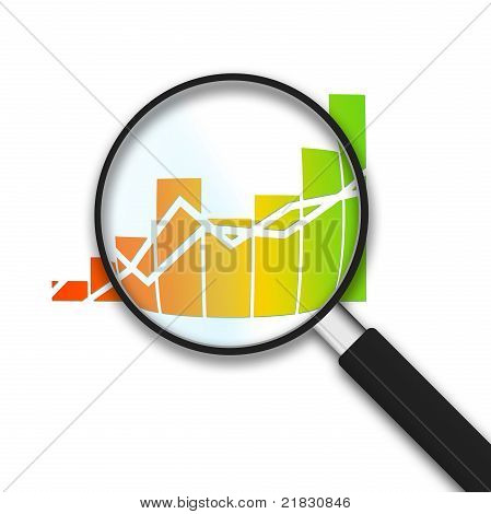 Magnifying Glass - Business Graph