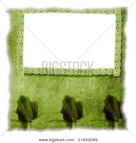 Old Frame Floral Background Blank