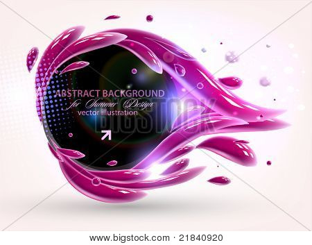 vector multicolor splat and a frame for background