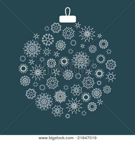 Christmas decoration made from snowflakes