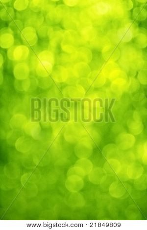 blur, green background, circles of light