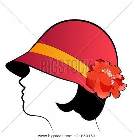 Flapper 1920's hat