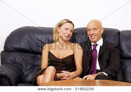 Businessman and wife