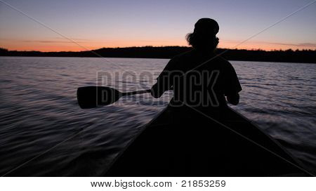 Canoeing At Night