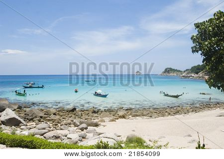 Beach Of Ao Leuk, In Koh Tao