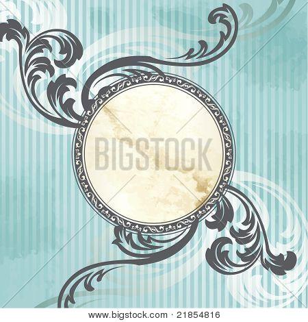 Silver Victorian vintage emblem