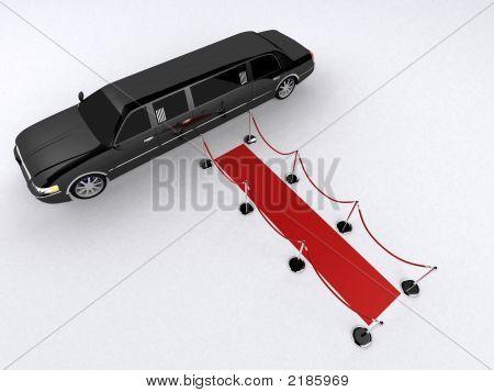 Tapete vermelho e Limousine