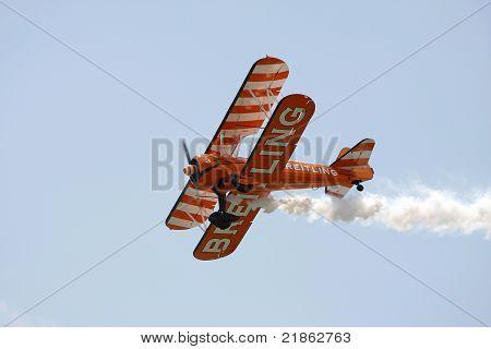 Biplane At An Airshow