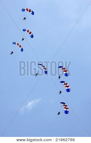 Raf Falcons Parachute Display