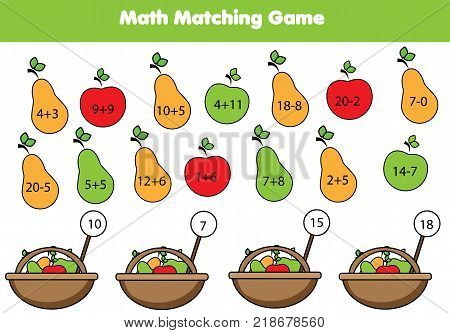 Math Educational Game Children. Vector & Photo | Bigstock