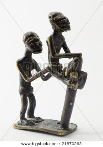 Figurine symbolizing helping