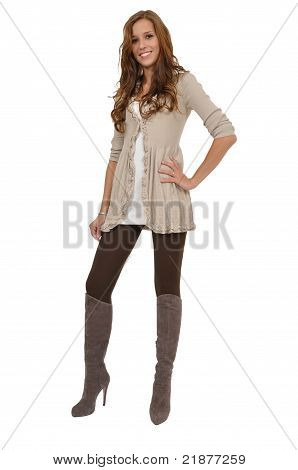 Young Woman With Boots