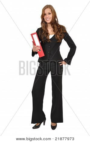Secretary With Red Folder