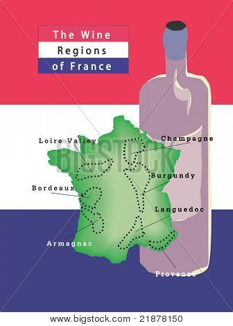 Wine Regions Of France, Vector