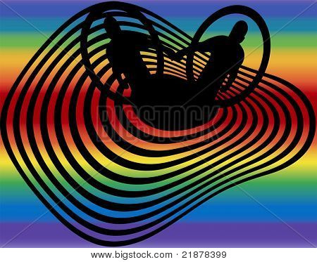 concept-coming out gay pride vector