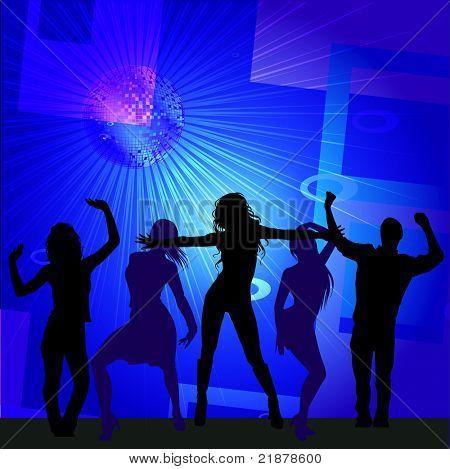 Disco Dancers- Vector