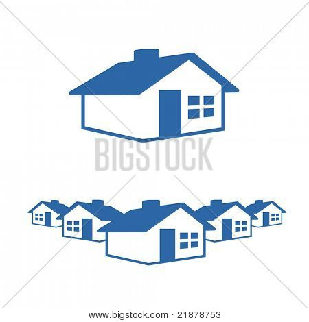 House Graphic Icon and Header Ready for your Text and Color.