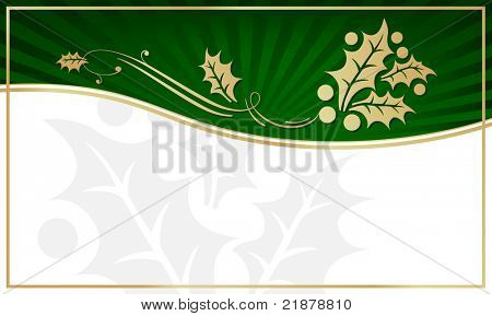 Exotic Green Holly Adorned Gift Tag with Room for your own text. You may also like my color variations on this design.