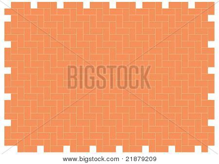 patio floor herringbone brickwork pattern scaleable and editable vector