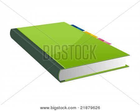 libro de icono Vector sobre fondo blanco