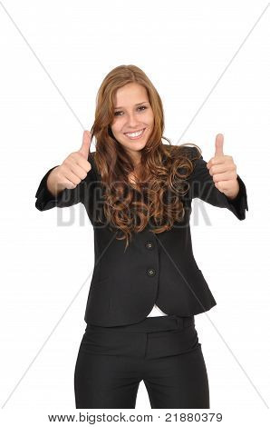 Students With Two Thumbs Up