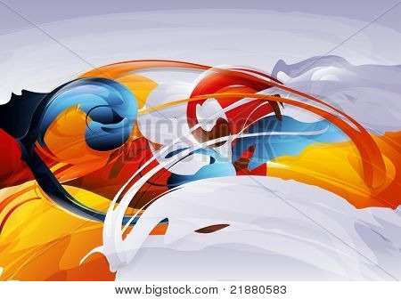 abstract vector graphic, bright background in graffiti