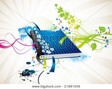 libro de Vector icono azul
