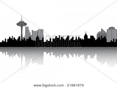 Urban cityview vector illustration