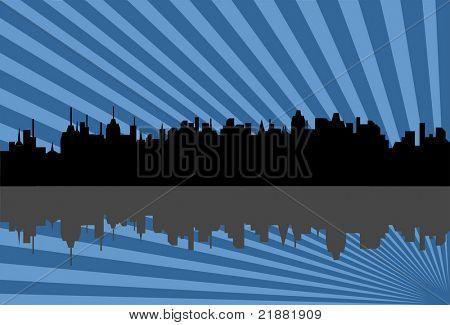 Cityscape silhouette