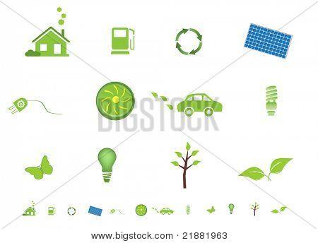 Environment friendly eco symbols