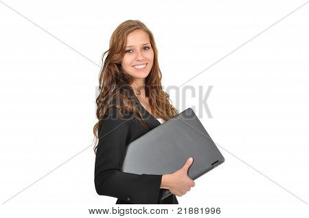 Students With Laptop Sideways