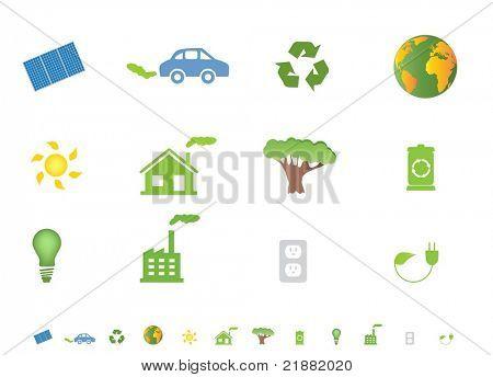 Eco icons and symbols