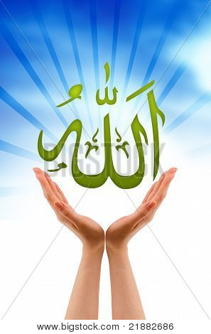Hand Holding A Allah Sign