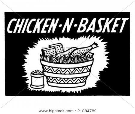 Chicken N Basket - Retro Ad Art Banner