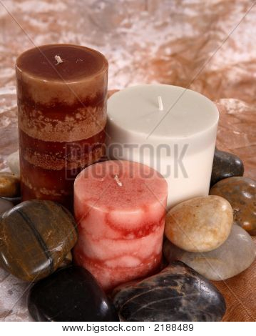 Candles With Rocks