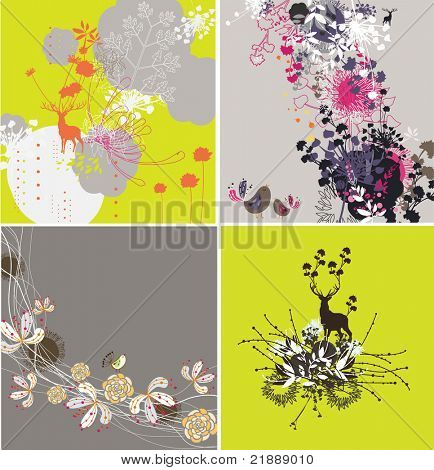 very nice and high quality floral pattern for card or fabric design