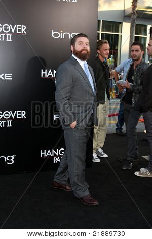 LOS ANGELES - MAY 19:  Zach Galifianakis arriving at the